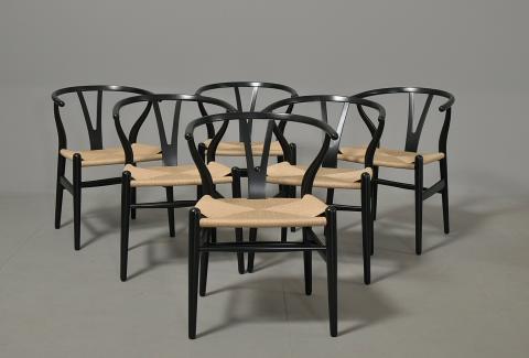 hans j wegner y stol sortmalet eg nylakeret og nyflettet design m bler. Black Bedroom Furniture Sets. Home Design Ideas